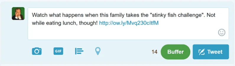 Shorten the URL and create your tweet. Be sure to test the link before you share.