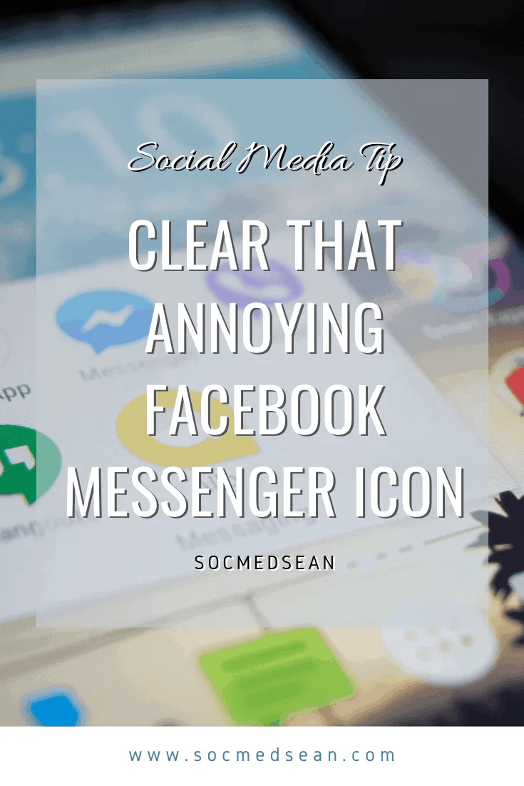 How do I clear the Facebook Messenger icon on my phone when I don't have a new message?