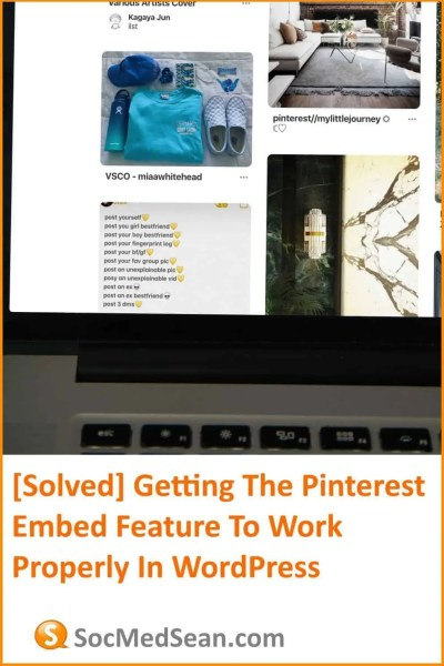 Getting the Pinterest Widget Builder To Work In WordPress