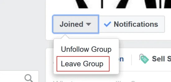 Steps to leave a Facebook group