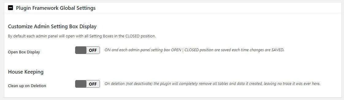 The A3 Lazy Load Plugin Framework Global Settings tab