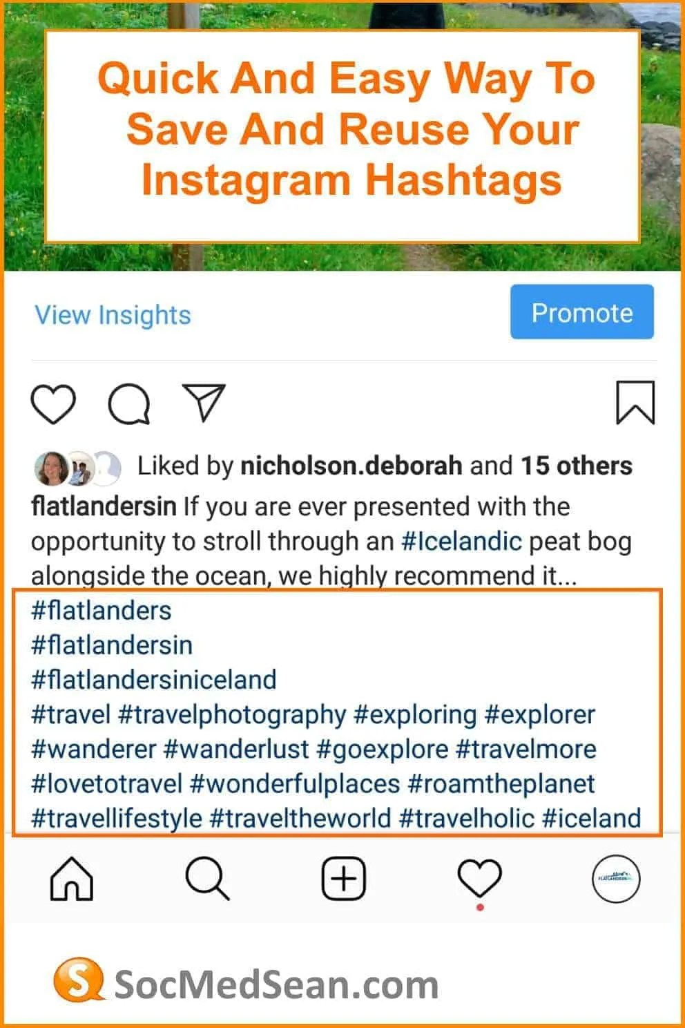 Quick tips for saving and reusing your Instagram hashtags