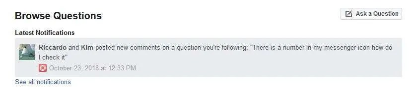 Facebook forum allows you to ask questions and get support from other users