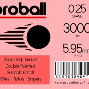 20 Bags Of Proball 0.25g (3000) Airsoft 6mm BBs