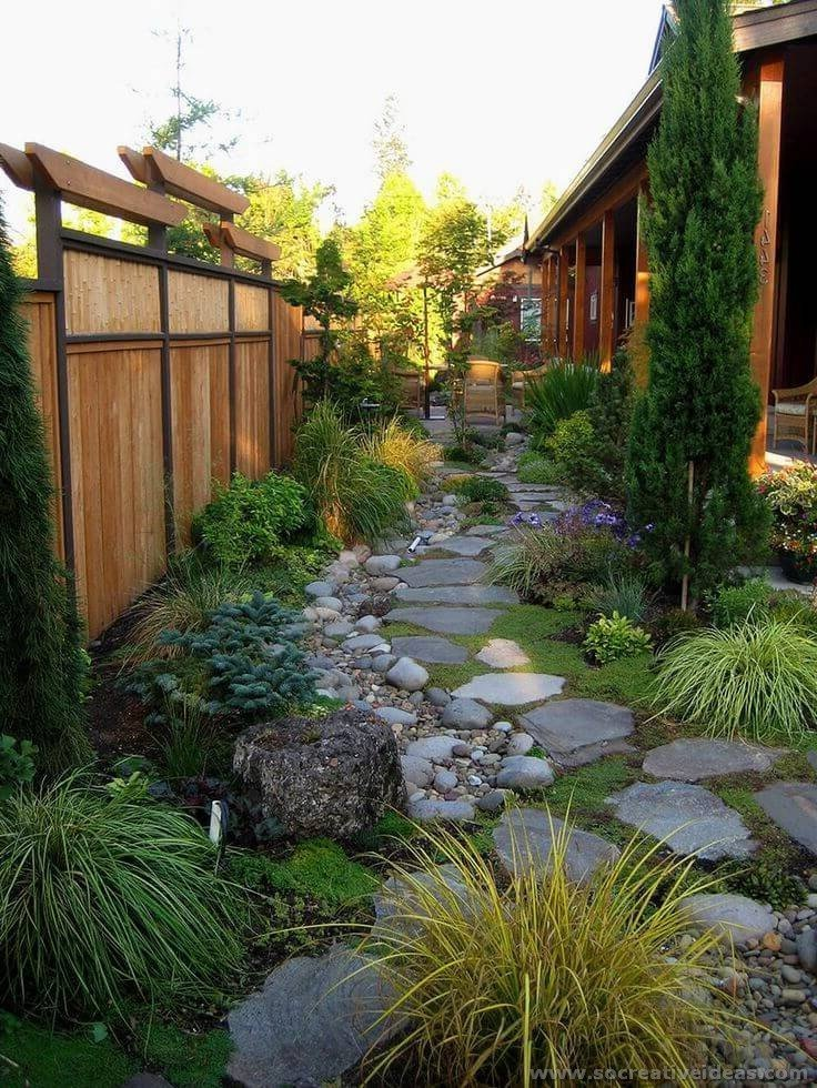 50 Backyard Landscaping ideas for inspiration | Creative ... on Patio And Grass Garden Ideas id=19264