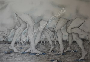 In Limbo, ink, graphite and pastel, (29,7x42cm)