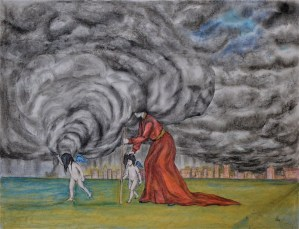Tormenta (collage), ink, graphite and pastel, 42x59,4cm