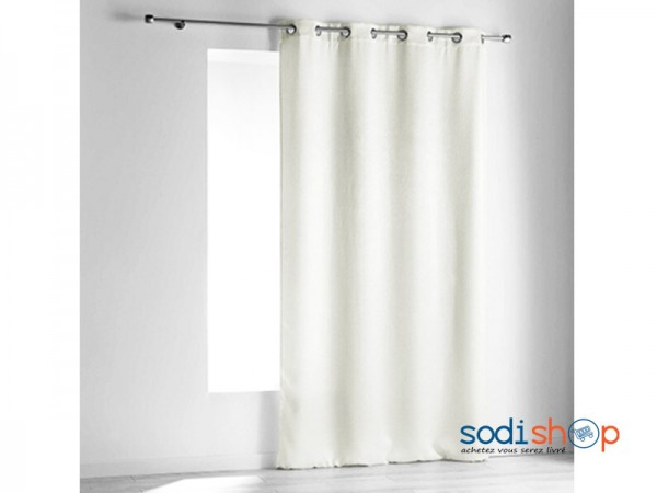 rideau occultant couleur blanc 140x240 cm 2a deco maison et bureau ak0028