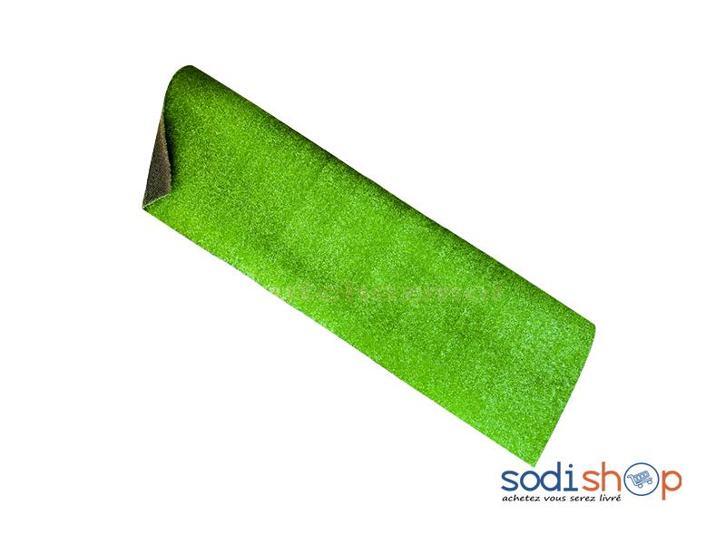 tapis en gazon synthetique 1 metre carre paillasson antiderapant vert lb0060
