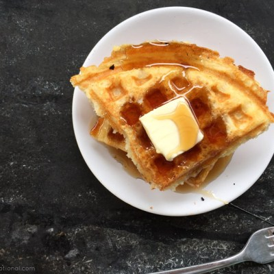 Overnight Brown Butter Waffles