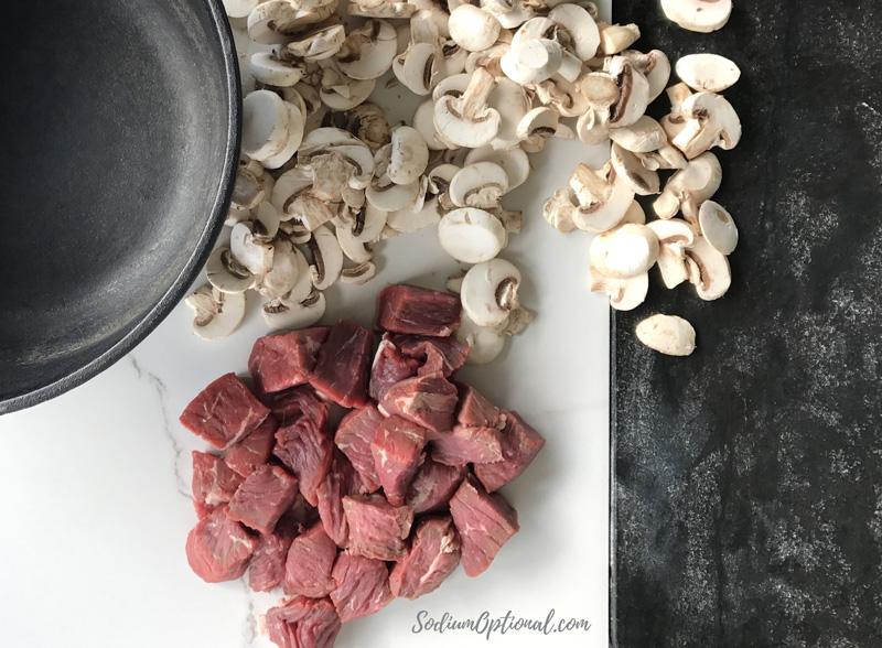 Oven Baked Beef Stroganoff