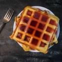 Blueberry Cornbread Waffles
