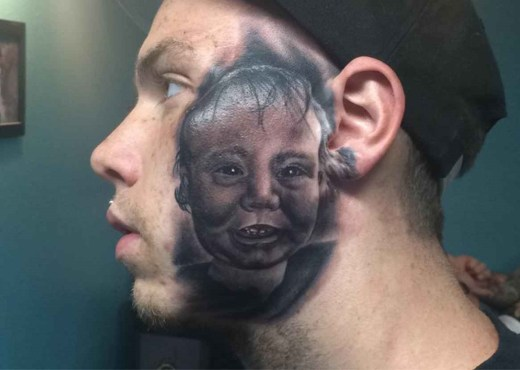 tattoo face portrait