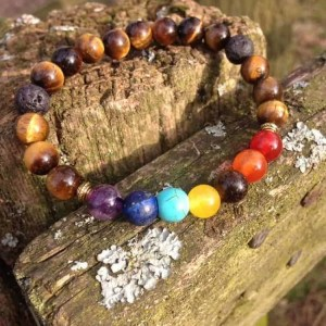 7 Chakra and Tigers Eye Healing Bracelet