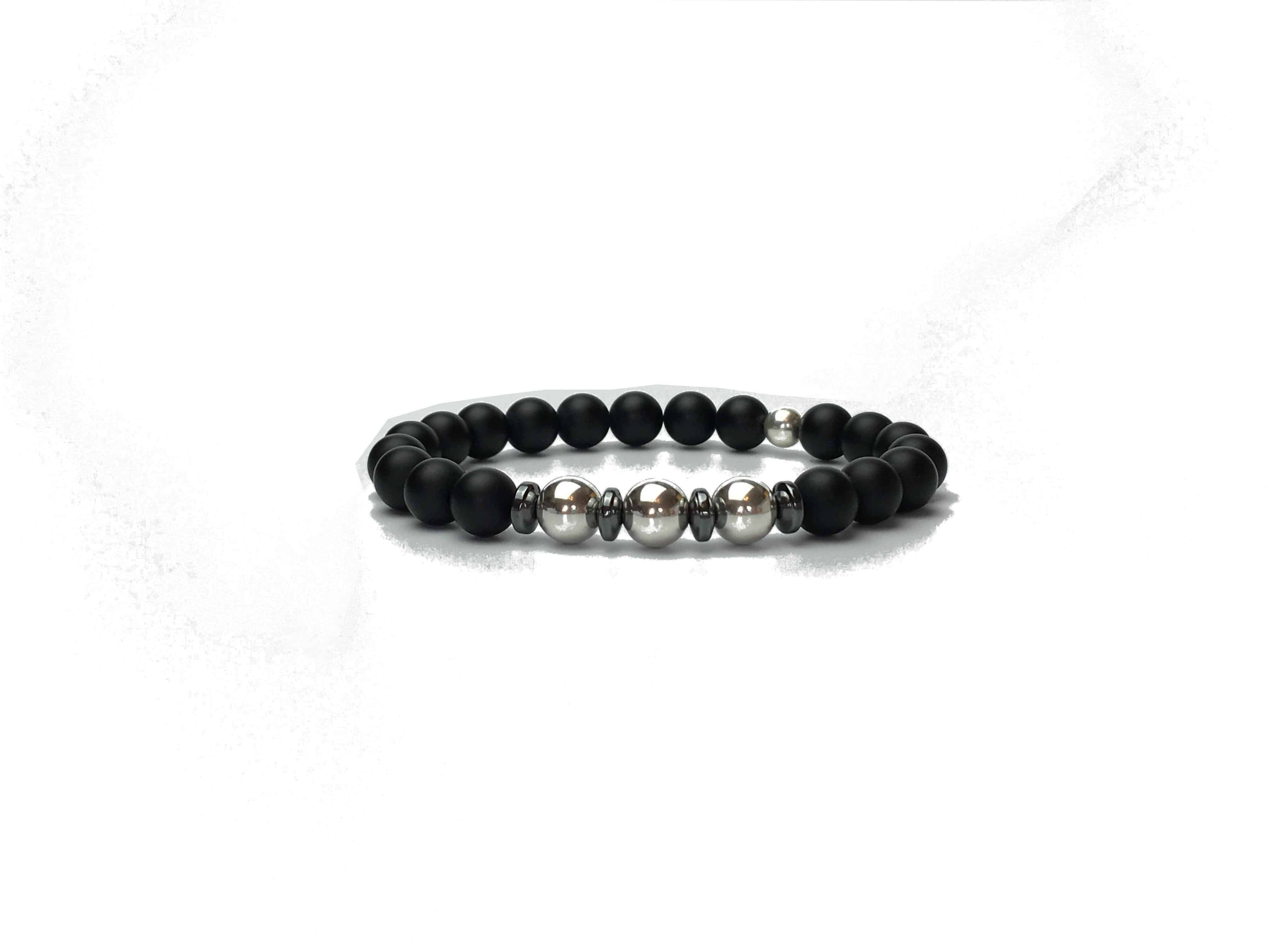 Sterling Silver and Onyx Bracelet