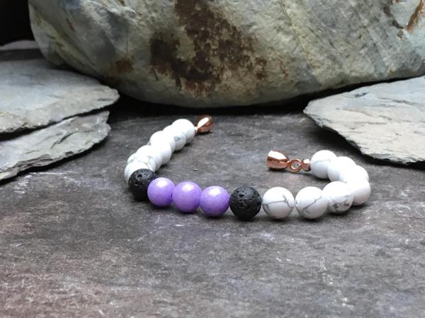 Howlite, Lilac Mashan Jade and Lava Stone Diffuser