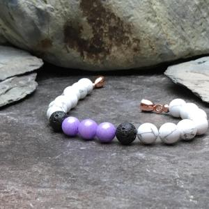 Howlite, Lilac Mashan Jade and Lava Stone Diffuser