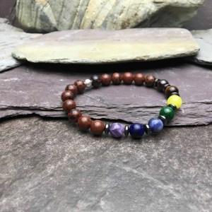 Mahogany Obsidian 7 Chakra Bracelet
