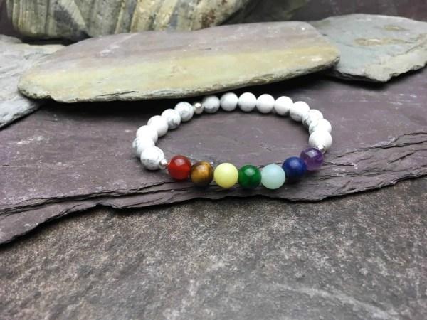 Howlite Chakra Healing Bracelet