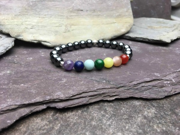 Hematite 7 Chakra Healing Bracelet