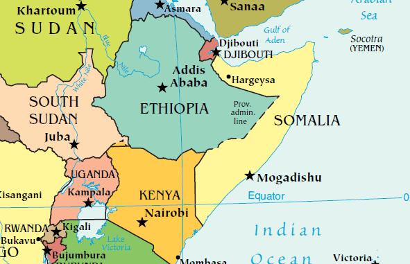 Map of Somalia (CIA map)