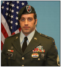 SSG Matthew Pucino of 20th Special Forces Group died on November 23, 2009 in Afghanistan. (Photo USASOC Fallen Heroes Memorial)
