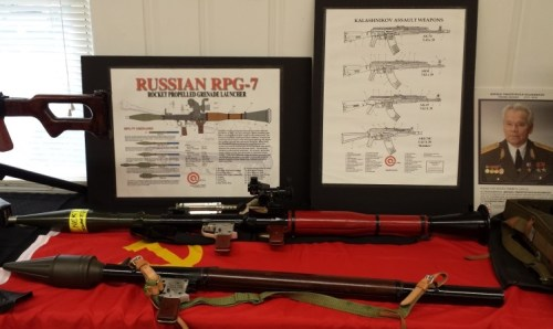 RPG-2 and RPG-7 on display (Rocket Propelled Grenade Launchers)