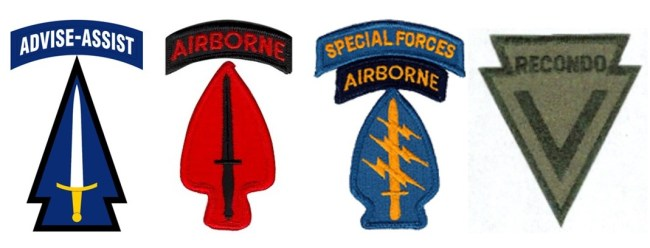 SFAB Beret - Shoulder patch for 1st SFAB, USASOC, Special Forces, and MACV Recondo School