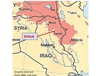 Map of Kirkuk, Iraq