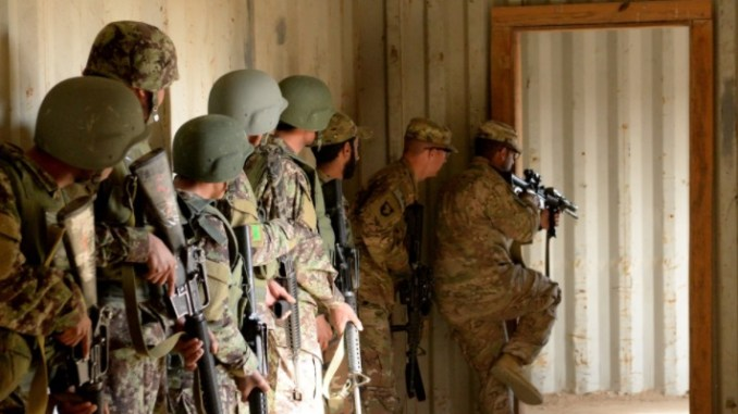 All Things SFAB - Advisors from Task Force Forge provide instruction to the ANDSF at the Helmand province Regional Military Training Center. (Photo by OF-2 Kay Nissen, RS HQs, 8 March 2017)