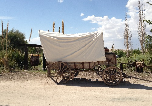 Wagon at Indian Cliffs Ranch El Paso Texas