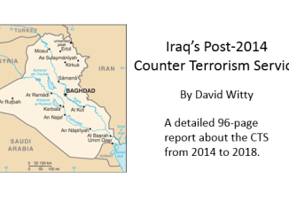Iraq's Post-2014 Counter Terrorism Service, by David M. Witty, October 2018, The Washington Institute