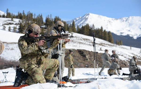 10th SFGA Winter Warfare Shooting, Cold Weather training at Taylor Park, Colorado. Photo by SGT Timothy Clegg, March 4, 2016.