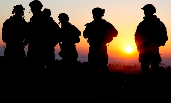 Soldiers at Sunset. Department of Defense photo.