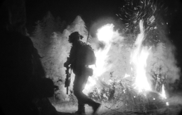 USSF attached to SOTF-A sets fire to field of marijuana in Afghan drug lab. Sep 12, 2016. (photo by Sgt Connor Mendez, NSOCC-A).