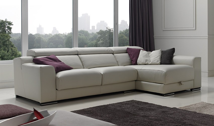 Sofa cama rinconera chaise longue for Sofas chaise longue de piel