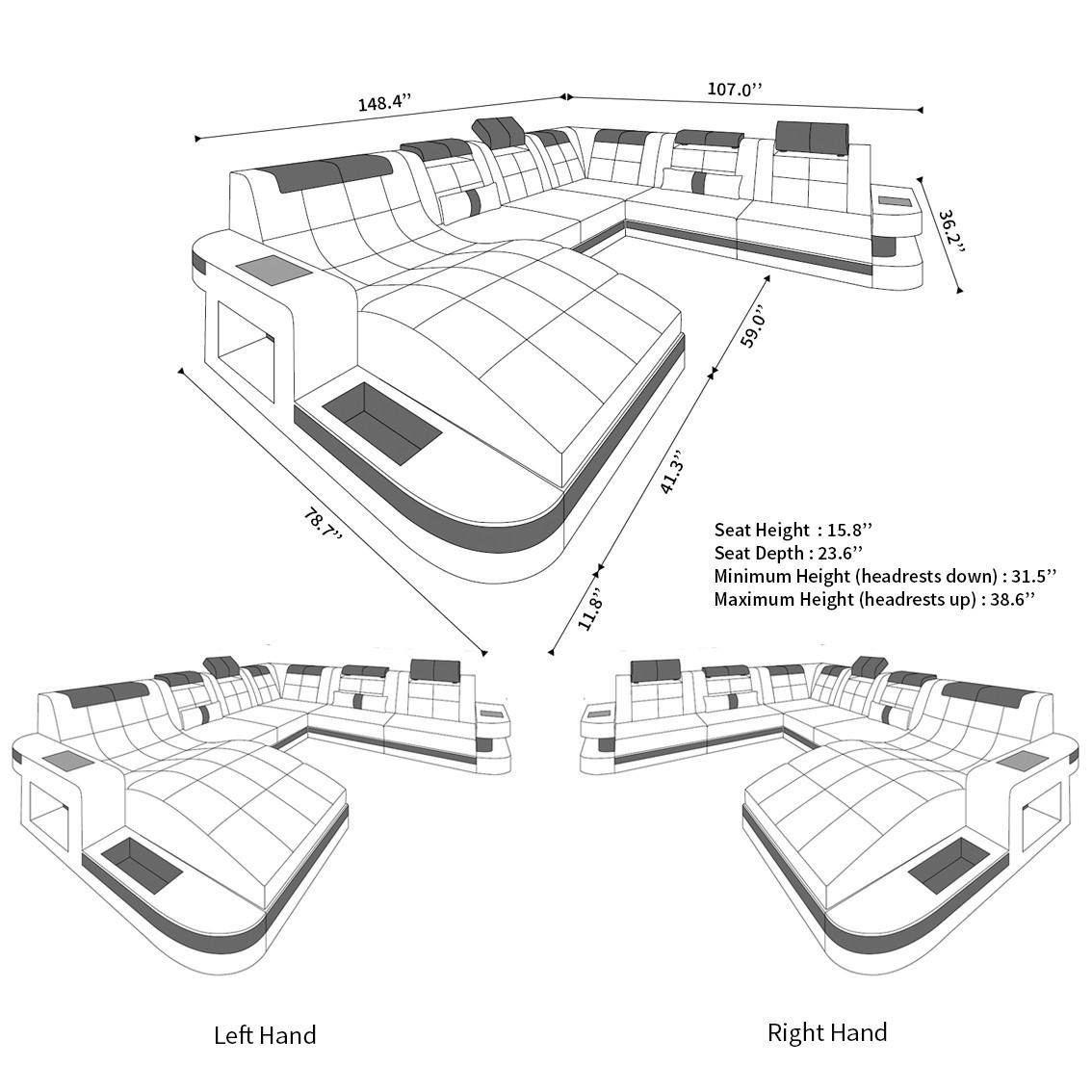 Xl Sectional Sofa Jacksonville Led