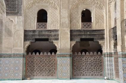 DIe Medersa in Fes- ähnlich zu der in Meknes, aber viel besser erhalten!