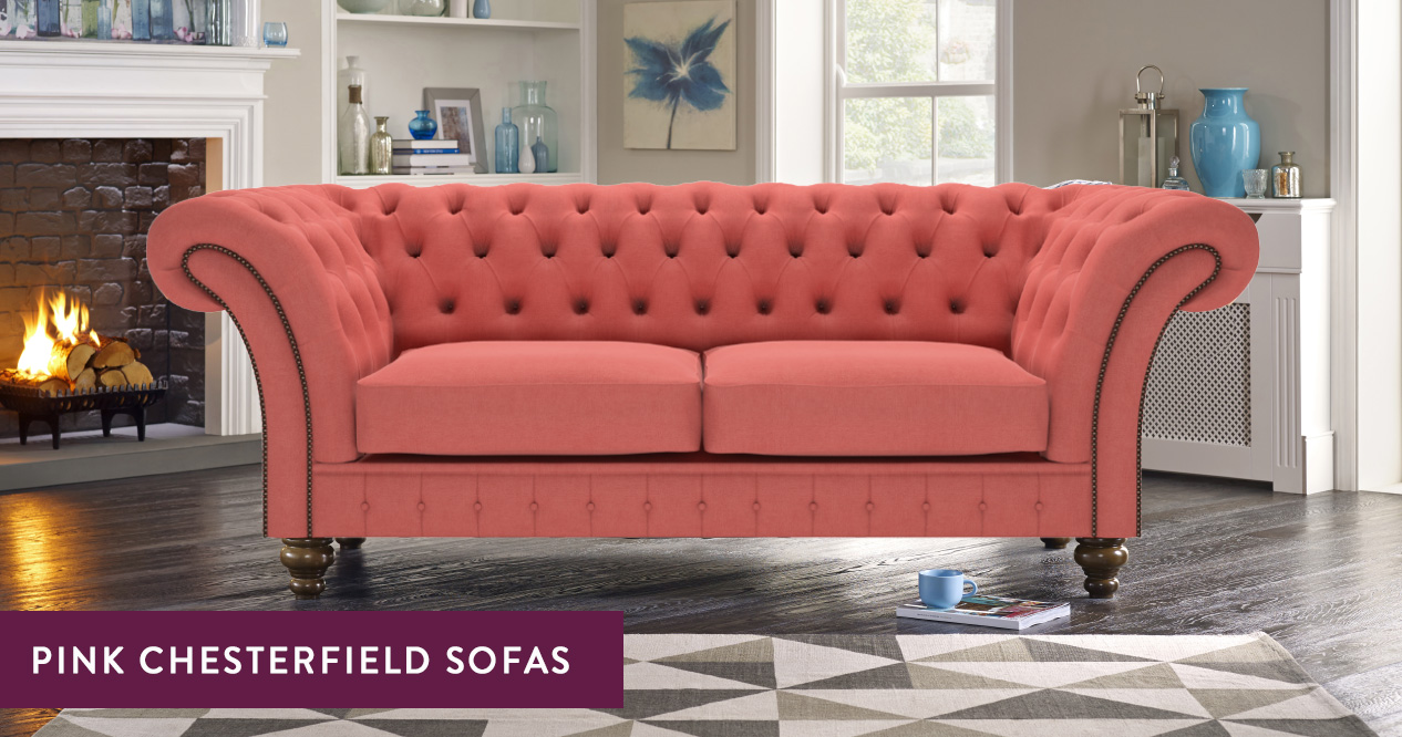 here at sofas by saxon we have a great range of pink chesterfield sofas that are ideal if you want to make a real statement with a variety of shades on