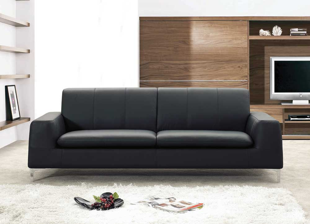 Incroyable Leather Sofas Jm Tribeca Modern Leather Sofa Jm