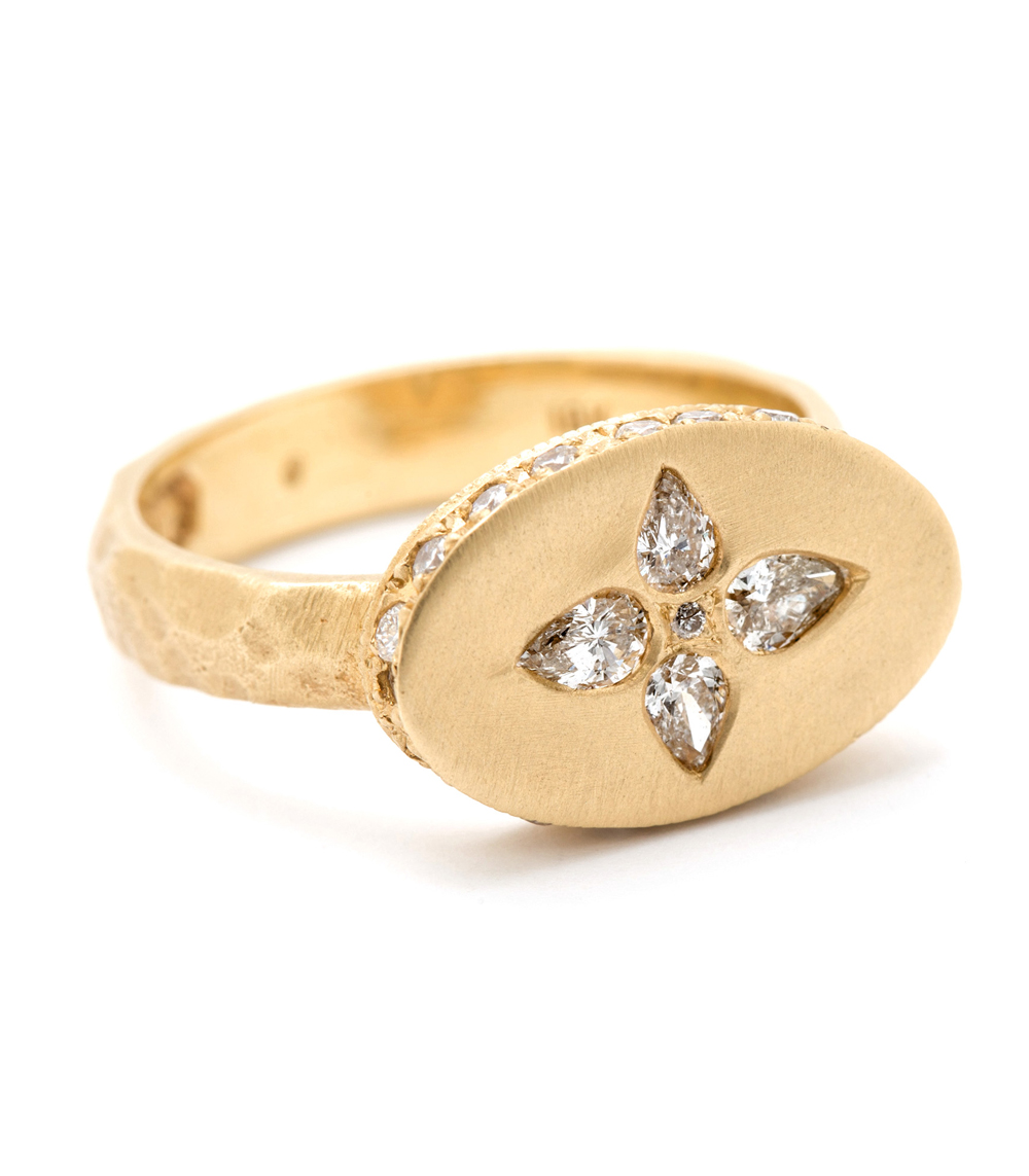 One Of A Kind Bridal Etoile Signet Ring