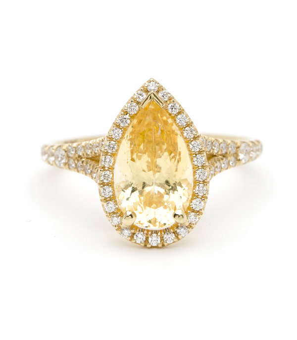 One Of A Kind Bridal The Bellini Ring Yellow Sapphire