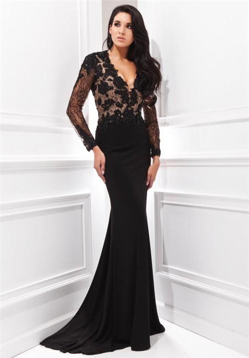V neck cocktail dresses with sleeves dress