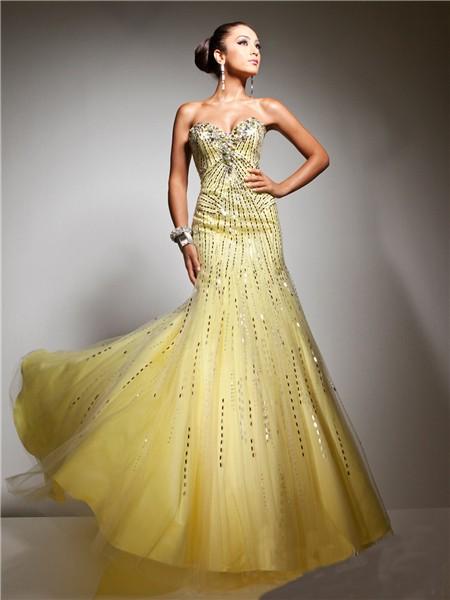 Beach Wedding Yellow Dresses