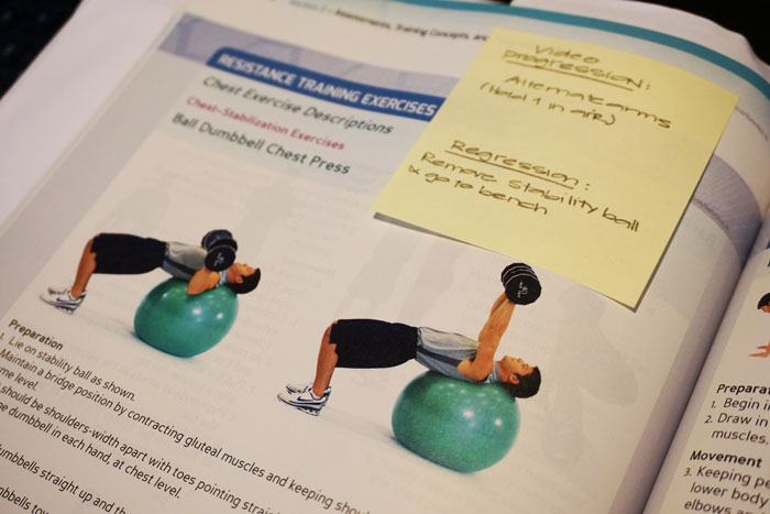 NASM CPT - Exercise Progressions