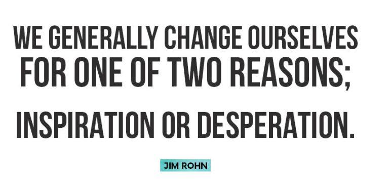 Inspiration or Desperation - Quote