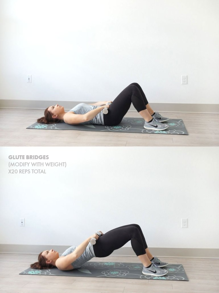 20-Minute At Home Leg and Butt Workout | Glute Bridge