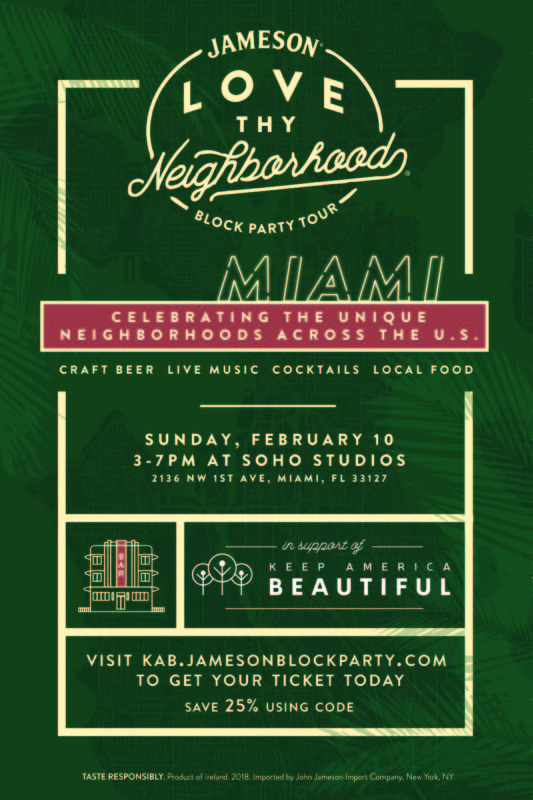 South Florida Nights Magazine Jameson Love Thy Neighborhood Block Party Miami