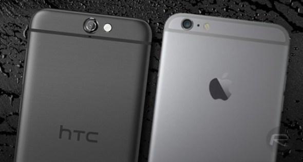 [觀點] HTC One A9 抄襲 iPhone 6s 背面設計一說 HTC-One-A9-iPhone-6s-550x293