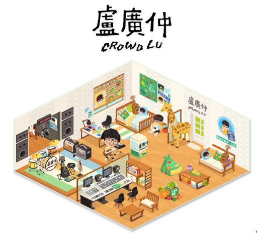 【圖二】LINE PLAY首位台灣藝人盧廣仲房間